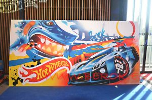 graffiti evento hotwheels 50 aniversario Paris