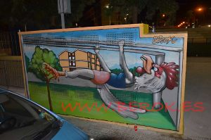 graffitis gallina comic deporte