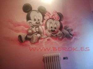 graffiti infantil mickey mouse bebe