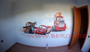 murales infantiles coches cars
