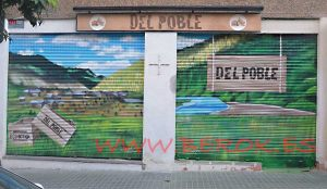 graffiti persianas del poble paisaje
