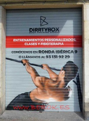 graffitis gimnasio persiana