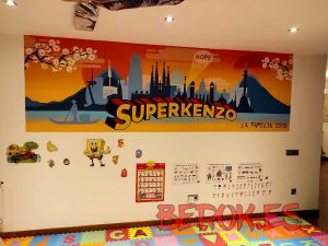 graffiti japones superkenzo skyline Barcelona