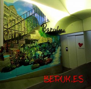 mural diseño decoracion de hoteles happy people