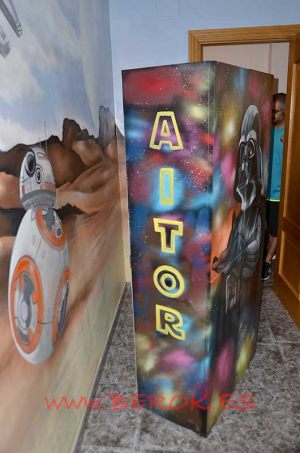 graffiti-armario-star-wars-aitor