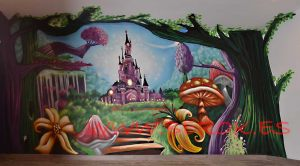 graffiti-castillo-princesas-bosque