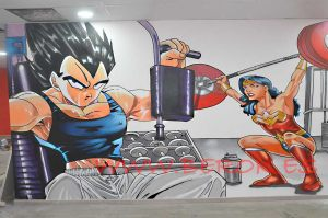graffiti Vegeta Dragon Ball wonderwoman Goku