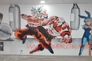 graffiti dragon ball super jiren goku ultra instinto Goku