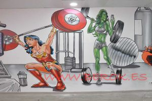 graffiti wonder woman hulka