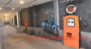 graffiti parking 3d profundidad