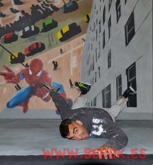 3d-mural-spiderman