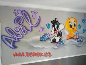 mural-infantil-silvestre-piolin