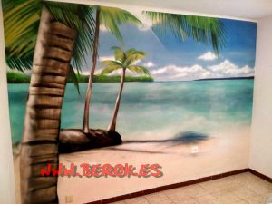 mural-playa-caribe-habitacion