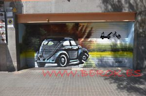 graffiti parking coche escarabajo