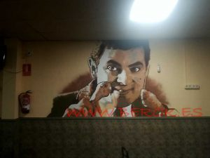 graffiti mr bean