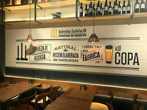 graffiti mural restaurante cerveza