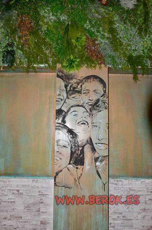Mural-decorativo-pintado-a-mano-columna