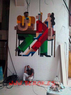 graffiti-ilustracion-bar-Ramblas-Marino