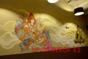 decoracion-mural-restaurante-tailandes-sabadell