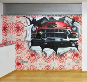 graffiti-cadillac-rojo