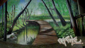 murales-decorativos-de-bosque-xxl-en-barcelona