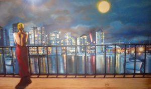 Decoracion-comedor-con-rio-Hudson-de-Manhattan