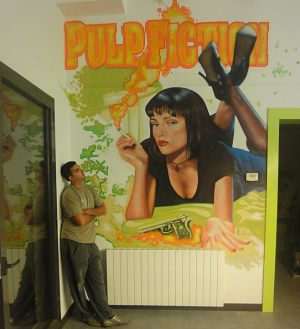 Decoracion-interior-Pulp-Fiction-en-comedor