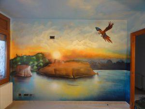 mural-habitacion-matrimonio-con-paisaje-del-caribe
