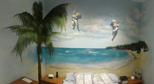 mural-playa-habitacopn-matrimonio-angeles