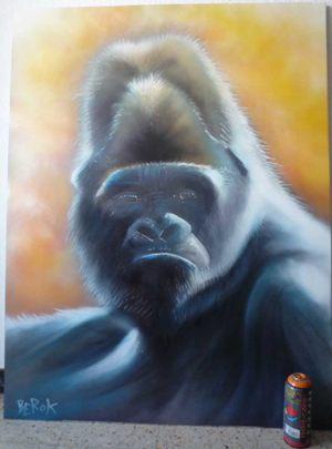 cuadros-graffiti-gorila