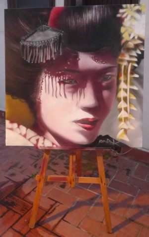 cuadros-graffiti_geisha