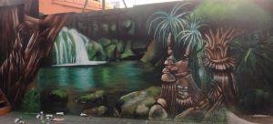 graffiti-selva-surrealista-en-terraza-discoteca