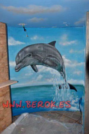 graffiti delfin