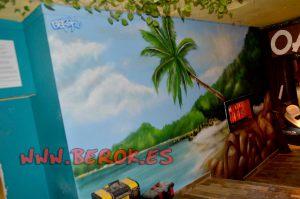 graffiti playa palmera