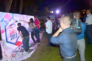 Exhibicion-de-graffiti-en-directo-para-la-fiesta-americana-de-Autotask-NY-en-el-hotel-Juan-Carlos-I