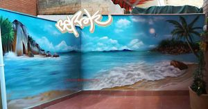graffiti playa caribe