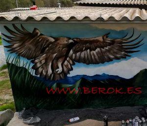 graffiti aguila coto Vilaregut