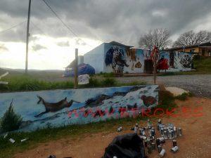 graffiti mural caza