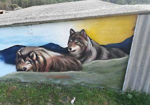 graffiti mural lobos
