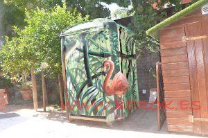 graffiti pelicano lavabo WC exterior