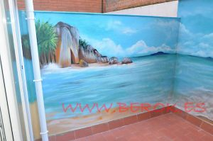 mural playa patio