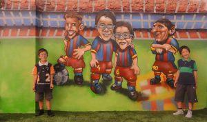 Mural-fcb-caricaturas