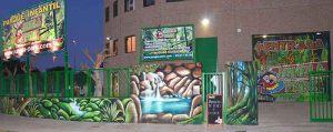 mural-selva-cascada