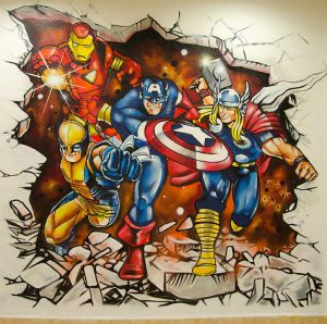 mural-superhroes-marvel-comics
