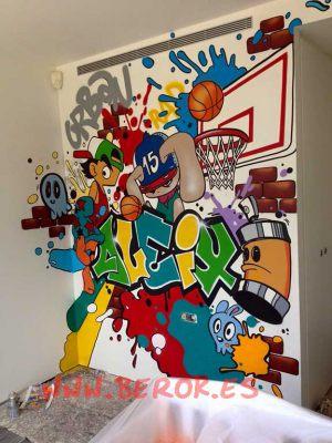graffiti-habitacion-juvenil-basket