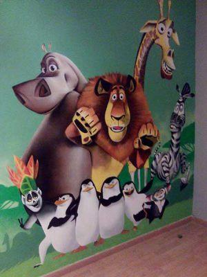 mural-infantil-madagascar-habitacion