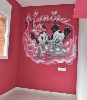 mural-infantil-mickey-mouse-minnie-yyanira
