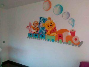 mural-infantil-tren-winnie-the-pooh-y-sus-amigos
