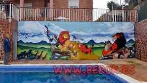 graffiti-infantil-rey-leon-piscina