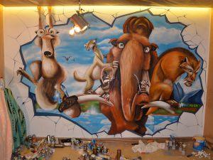 Ice-Age-mural-infantil